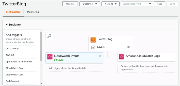 AWS Lambda function with CloudWatch Events